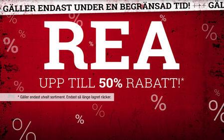 Rea! Upp till 50% rabatt!