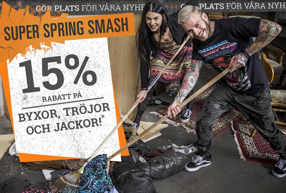15% RABATT PÅ BYXOR, TRÖJOR OCH JACKOR!*