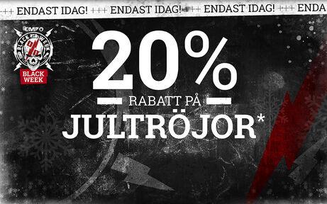 20% RABATT PÅ JULTRÖJOR!