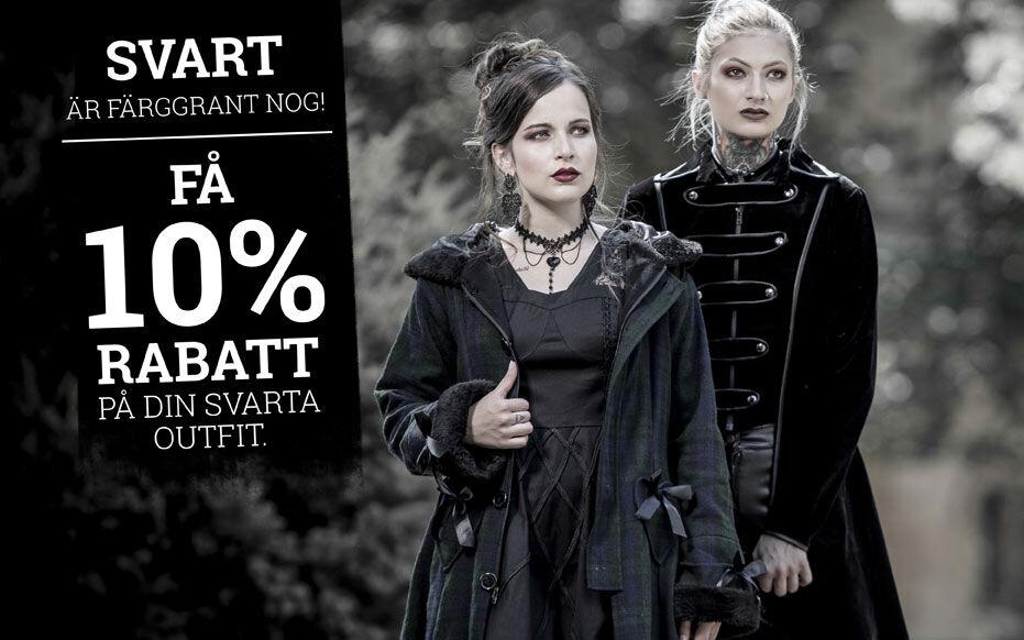 Få 10% RABATT på din svarta outfit.