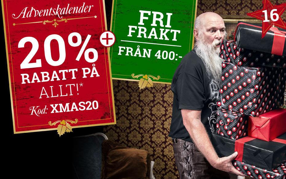 ENDAST IDAG: 20% RABATT PÅ TUSENTALS VAROR* + FRI FRAKT!**