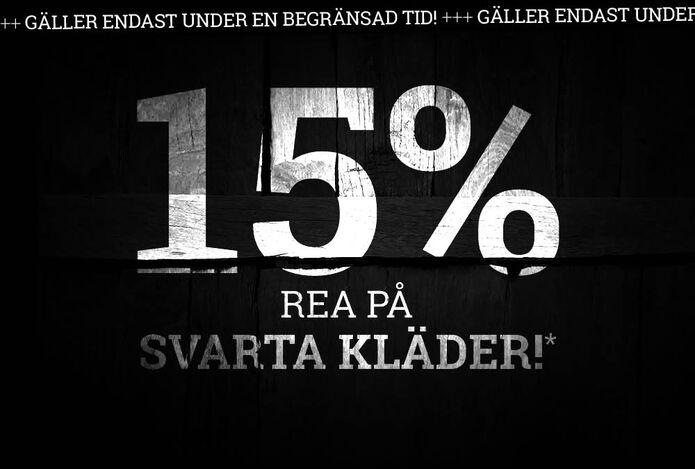 15 % REA PÅ SVARTA KLÄDER!