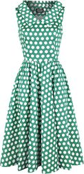 Ravishing Green Polka Dot Swing Dress
