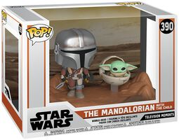 The Mandalorian - The Mandalorian with The Child (Movie Moments) vinylfigur 390