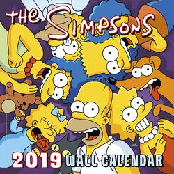 Simpsons 2019 Wall Calendar