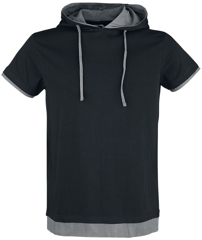 Svart T-shirt med huva