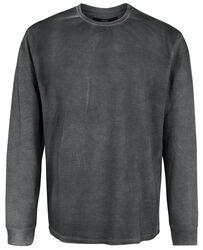 Grå sweatshirt med ljus tvättning