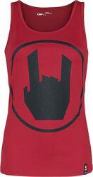 Rött linne med EMP-logotryck