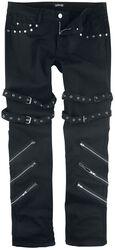 Jared - Schwarze Jeans mit Schnallen, Reißverschlüssen und Nieten