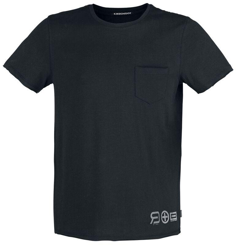 RED X CHIEMSEE - schwarzes T-Shirt mit Brusttasche