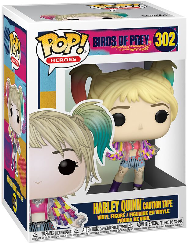 Harley Quinn Caution Tape vinylfigur 302