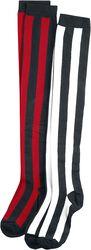 2-pack randiga overknee-strumpor