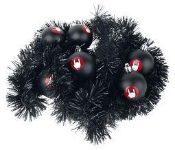 Julgranskulor och dekoration