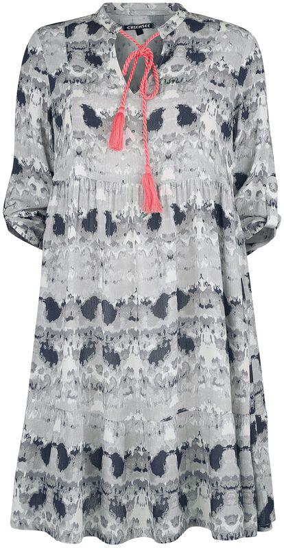 RED X CHIEMSEE - vit/svart batikklänning
