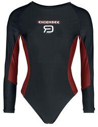 RED X CHIEMSEE - Svart baddräkt med logotryck