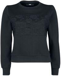 Sweatshirt med spets