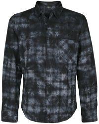 Rutig skjorta i batikstil