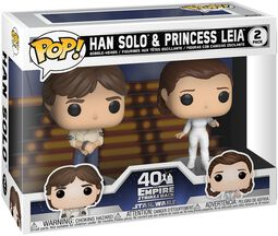 Empire Strikes Back 40th Anniversary - Han Solo & Princess Leia (2 figurer) vinylfigur