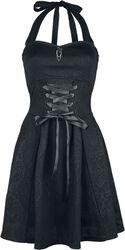 Gothicana halterneckklänning med snörning