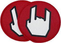 EMP Rockhand-tygmärke 2-pack