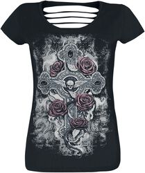 T-Shirt with Cut-Outs