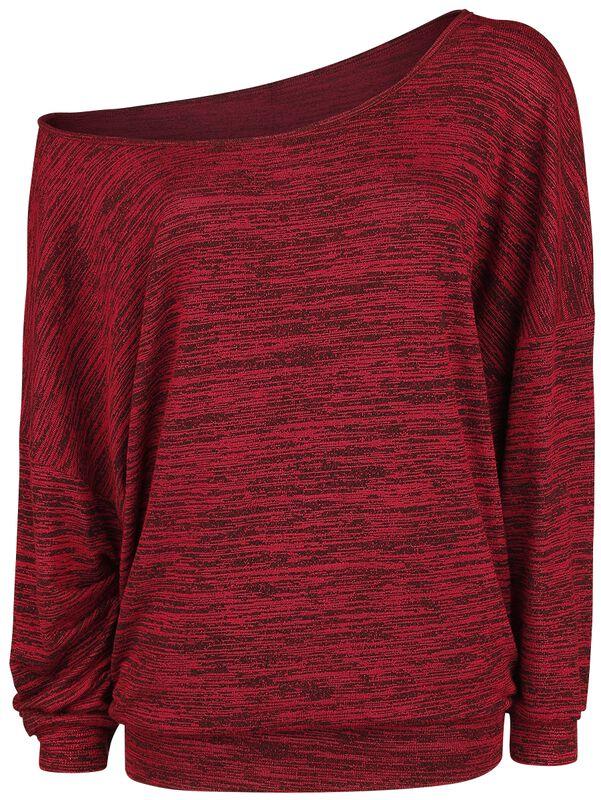 Oversize Melange Wide-Neck Sweater