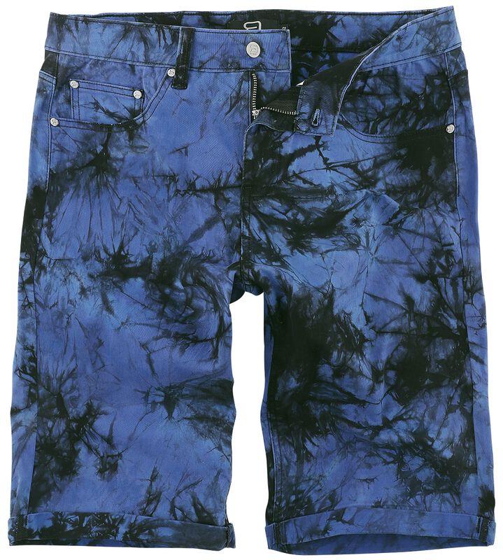 Blåa tvättade shorts