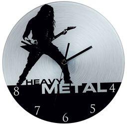 Väggklocka av glas Heavy Metal