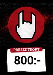 Presentkort 800,00 SEK