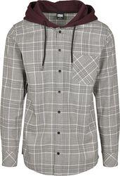 Hooded Glencheck Shirt