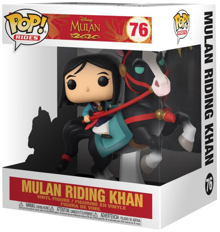 Mulan on Khan POP! Rides vinylfigur 76