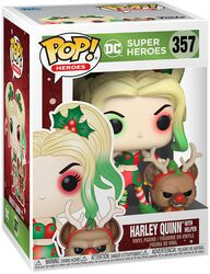 Harley Quinn with Helper (Holiday) vinylfigur 357