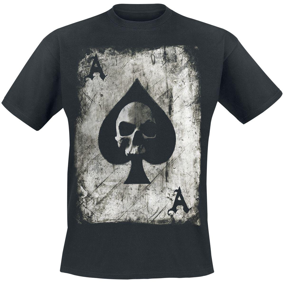 f662bf0f49d3 Pik Ace Skullcard T-shirt | EMP