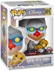 Rafiki with Simba (Glitter) vinylfigur 301