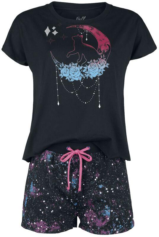 Pyjamasset med galaxtryck