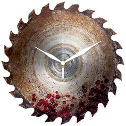 Väggklocka av glas Saw Blade With Blood