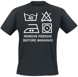 Remove Person Before Washing!