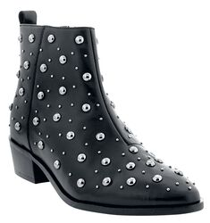 Ankle Boots With Decorative Gems