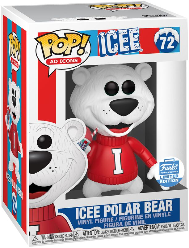 Ad Icons: Icee Polar Bear (Funko Shop Europe) vinylfigur 72