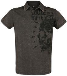 T-Shirt mit Kragen und Print