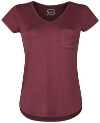 T.shirt med bröstficka och V-ringning