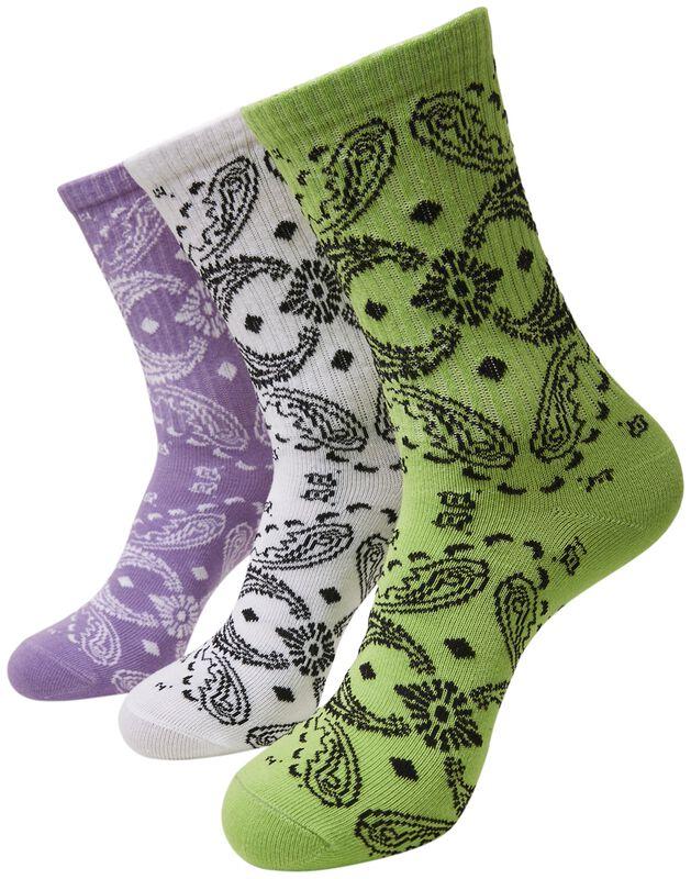 Bandana Pattern Socks 3-Pack