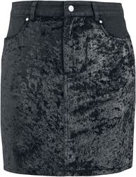 Glam Rock Velvet Mini Skirt