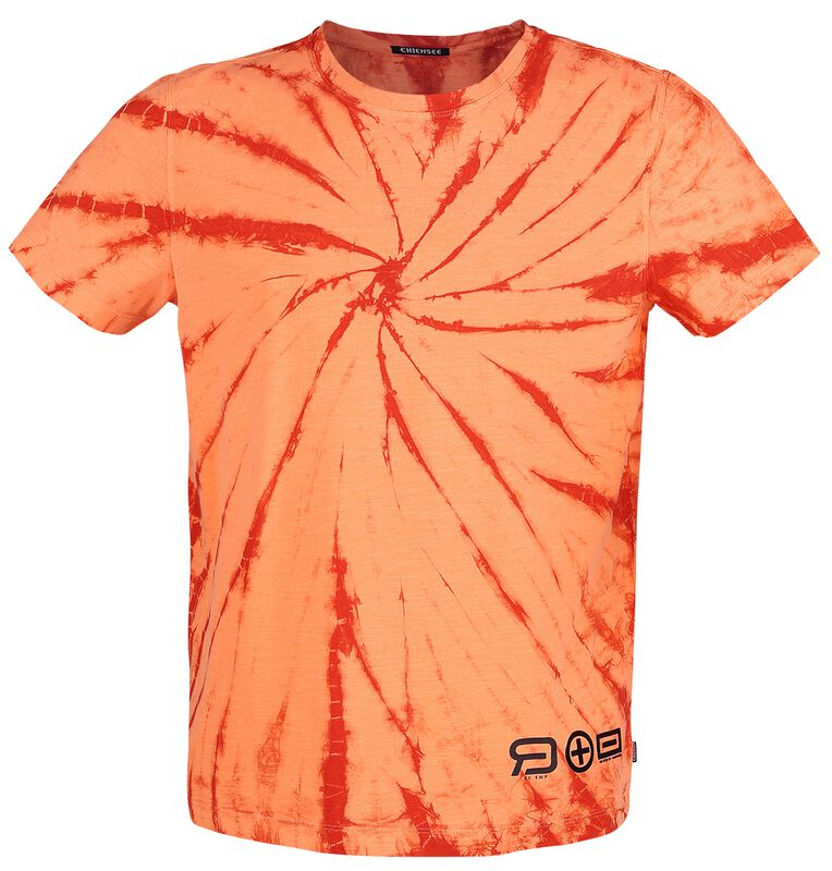 RED X CHIEMSEE - orange/rotes Batik T-Shirt