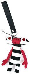 Striped Voodoo Doll Keyring