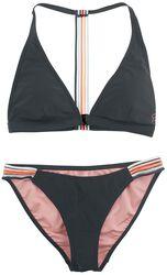 RED X CHIEMSEE - svart bikini med färgränder