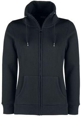 Svart sweatshirtjacka med ståkrage
