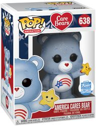 America Cares Bear (Glitter) (Funko Shop Europe) vinylfigur 638