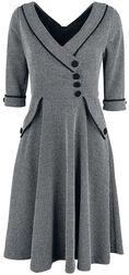 Macie Herringbone Flared Dress