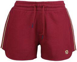 RED X CHIEMSEE - röda shorts med logotryck